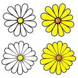 Set of flowers. In vector Stock Photography