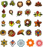 Set of  flowers. Set of different multi-coloured flowers Stock Image