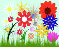 A set of flowers Stock Photography