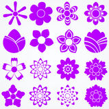 Set of flowers. Floral vector icons Stock Photo