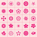 Set of flowers icon Stock Photography
