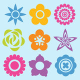 Set Flowers Royalty Free Stock Photography