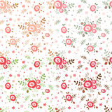 Set of flowers seamless patterns Stock Photo