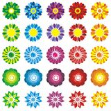 SET FLOWERS STICKERS Royalty Free Stock Photos