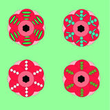 Set of flowers. A set of unusual colorful flowers vector illustration