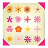 Set of  Flowers vector Royalty Free Stock Images