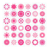 Set of flowers vector, flowers icons Stock Photos