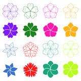 Set of flowers. Vector illustration Royalty Free Stock Photo