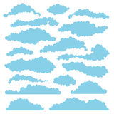 Set of fluffy clouds for design layouts. Vector Stock Images