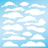 Set of fluffy clouds for design layouts. Vector Stock Photos
