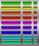 Set of fluorescent buttons. Vector illustration Stock Photo