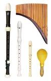 Set of flutes Stock Photo