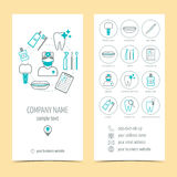 Set of flyer, brochure for dental clinic. Dental care. Set of promotional products. Flat design. Vector Stock Photo