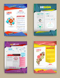 Set of Flyer, Brochure Design Templates. Royalty Free Stock Photos