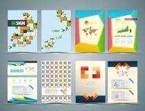Set of Flyer, Brochure Design Templates. Stock Image