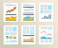 Set of Flyer, Brochure Design Templates. Financial Royalty Free Stock Photo