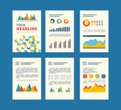 Set of Flyer, Brochure Design Templates. Financial Stock Photo