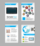 Set of Flyer. Brochure Design Templates. Information Technology. Network Technologies background Royalty Free Stock Photos