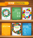 Set of Flyer, Brochure Design Templates. Leaves Royalty Free Stock Photo