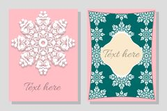 Set of flyer. Brochure design templates. Stock Images