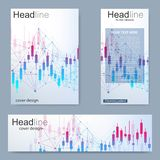 Set flyer, brochure size A4 template,banner.Stock market or forex trading graph. Chart in financial market vector. Illustration Abstract finance background vector illustration