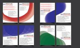 Set of Flyer Brochure Wave Design Templates Vector Stock Images