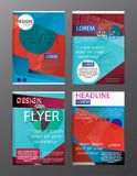 Set Flyer Design Abstract Polygonal. Business Template for Flyer. Banner Royalty Free Stock Image