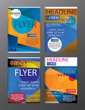 Set Flyer Design Abstract Polygonal. Business Template for Flyer. Banner Royalty Free Stock Photos