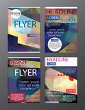 Set Flyer Design Abstract Polygonal. Business Template for Flyer. Banner Royalty Free Stock Images