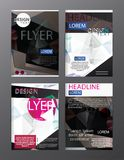 Set Flyer Design Abstract Polygonal. Business Template for Flyer. Banner, eps.10 Stock Photography