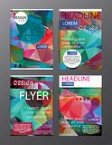 Set Flyer Design Abstract Polygonal. Business Template for Flyer. Banner, eps.10 Royalty Free Stock Photo