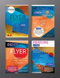 Set Flyer Design Abstract Polygonal. Business Template for Flyer. Banner, eps.10 Stock Image