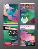 Set Flyer Design Abstract Polygonal. Business Template for Flyer. Banner royalty free illustration