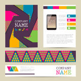 Set of Flyer design,  business templates Royalty Free Stock Photo