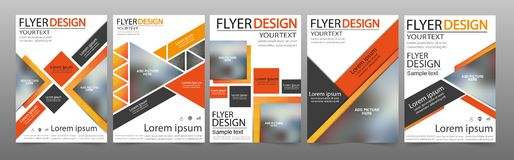 Set of Flyer design Royalty Free Stock Photography