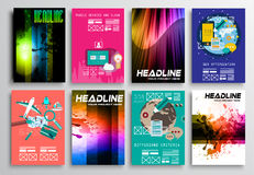 Set of Flyer Design, Flat User Interface. Brochure Designs Royalty Free Stock Photo
