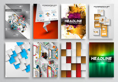 Set of Flyer Design, Infgraphics, Brochure Designs Stock Photography