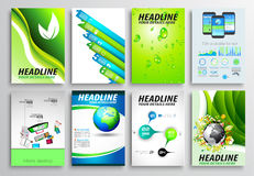 Set of Flyer Design, Infographic layout. Brochure Designs Stock Photos