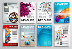 Set of Flyer Design, Infographic layout. Brochure Designs Stock Image