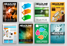 Set of Flyer Design, Infographic layout. Brochure Designs Royalty Free Stock Photography