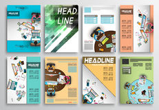 Set of Flyer Design, Infographic layout. Brochure Designs Royalty Free Stock Photo