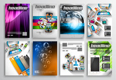 Set of Flyer Design, Infographic Templates. Brochure Designs Stock Images
