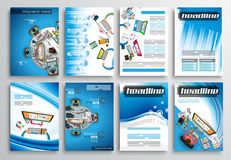Set of Flyer Design, Infographic Templates. Brochure Designs Royalty Free Stock Image