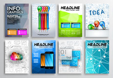 Set of Flyer Design, Infographics Brochure Designs Royalty Free Stock Image