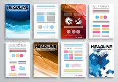 Set of Flyer Design, Infographics. Brochure Designs Royalty Free Stock Photo