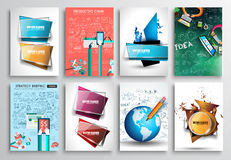 Set of Flyer Design, Infographics. Brochure Designs, Royalty Free Stock Image