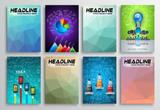 Set of Flyer Design, Infographics. Brochure Designs, Royalty Free Stock Photography