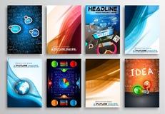 Set of Flyer Design, Infographics. Brochure Designs, Royalty Free Stock Image
