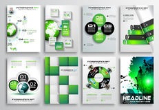 Set of Flyer Design, Infographics. Brochure Designs, Technology Backgrounds Royalty Free Stock Image