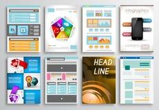 Set of Flyer Design, Infographics. Brochure Designs Stock Image